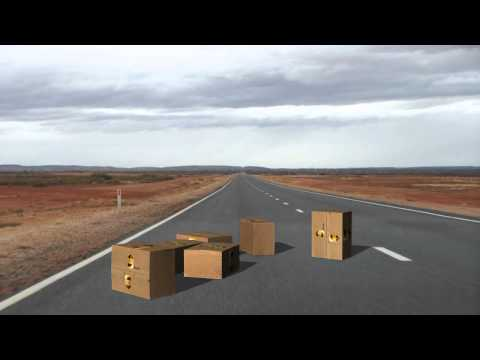 UPS boxes falling from the sky  - different animations - green screen effects thumbnail