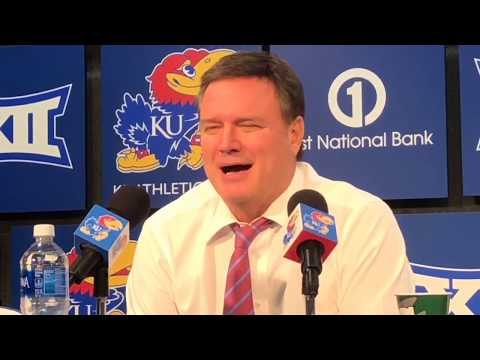 Coach Self post game after KU's win over Oakland