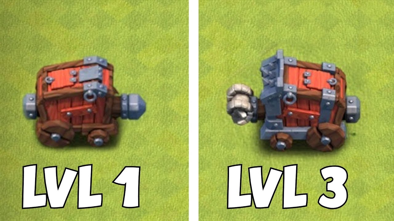 "TEST YOUR MIGHT!! ""Clash Of Clans"" MAX LVL 3 & LVL 1 WALL WRECKER"