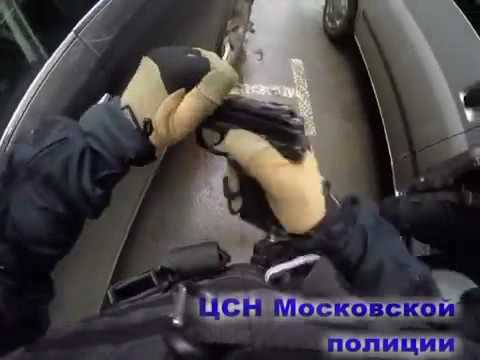 Russian MVD operators detained criminals in Moscow.