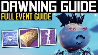 Video Destiny | THE DAWNING EVENT GUIDE! - New Quests, Record Book, Emotes, Treasures & More! download MP3, 3GP, MP4, WEBM, AVI, FLV September 2017
