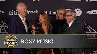 Roxy Music on the 2019 Induction Ceremony Red Carpet Show