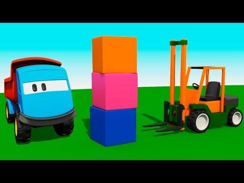 Мультик раскраска Учим цвета: Грузовичок Лева и Вилочный Погрузчик, мультики для детей про машинки