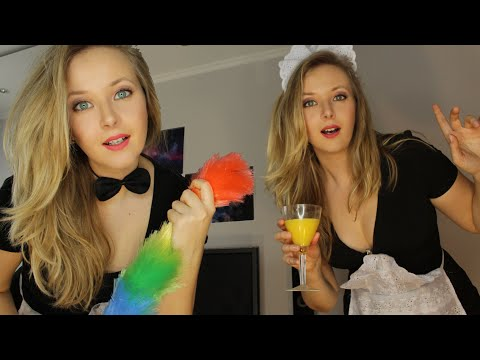 👭ASMR👸 TWO nice MAIDS will make your morning very special👸