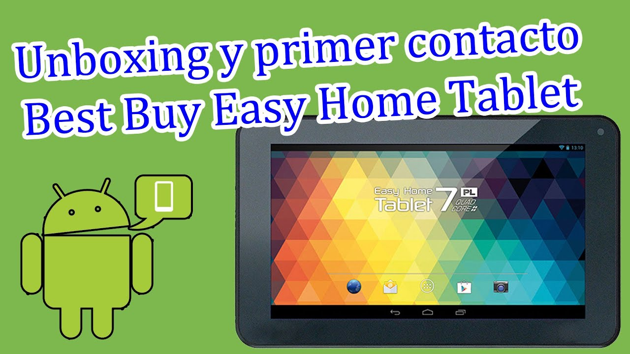 Unboxing Best Buy Easy Home Tablet De 7 Youtube