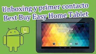 Unboxing Best Buy Easy Home Tablet De 7 Youtube