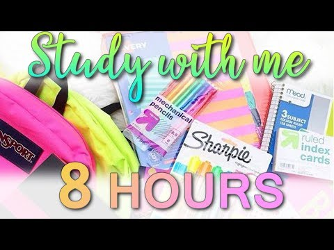 Study With Me - Study Live Stream #160 (8 HOURS) (GET YOUR WORK DONE HERE!)
