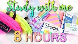 Study With Me - Study Live Stream #160 (8 HOURS) (GET YOUR WORK DONE HERE!) thumbnail