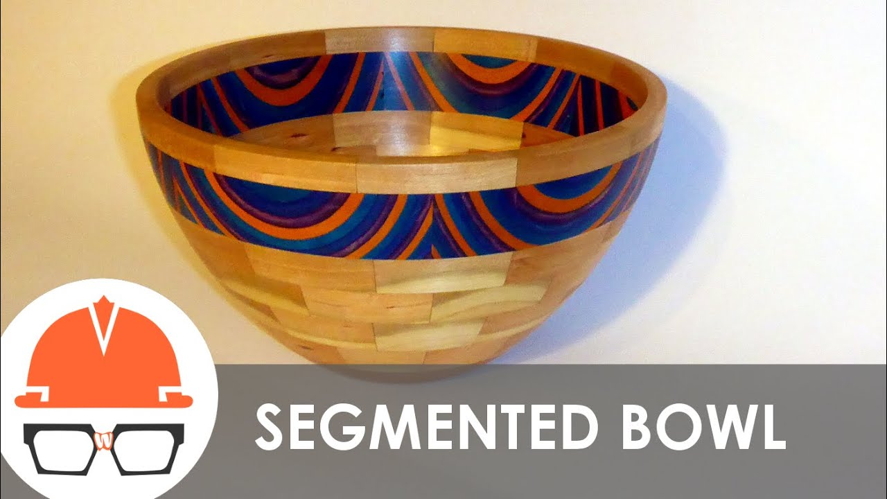 Turning A Segmented Bowl On The Lathe Cherry And Spec