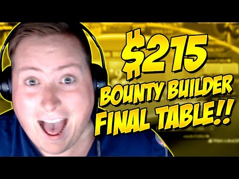 $215 BOUNTY BUILDER FINAL TABLE!!!!  PokerStaples Stream Highlights April 22nd, 2017