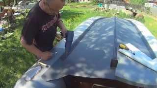 Усиление лодки ПВХ своими руками(Мой способ поклейки пвх на днище лодки. Тюнинг лодки пвх. Касатка 385., 2014-05-20T20:43:27.000Z)