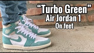 "Air Jordan 1 ""Turbo Green"" on Feet"