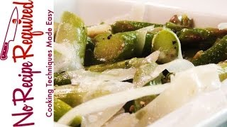 Garlic Asparagus With Parmesan - Noreciperequired.com