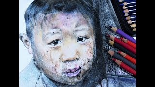 Drawing a child in poverty