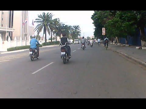 Phnom Penh City video by Sport Camera Ordro SP80X part 02