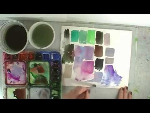 12 Color combinations to mix for Better Watercolor Paintings