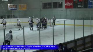 Acton Boxborough Varsity Girls Ice Hockey vs Fontbonne 1/8/16