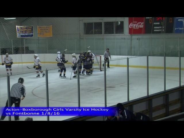 Acton Boxborough Varsity Girls Ice Hockey vs Fontbonne 1/8/16