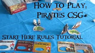 How to play Pirates Constructible Strategy Game Part 1: Start Here Rules Tutorial