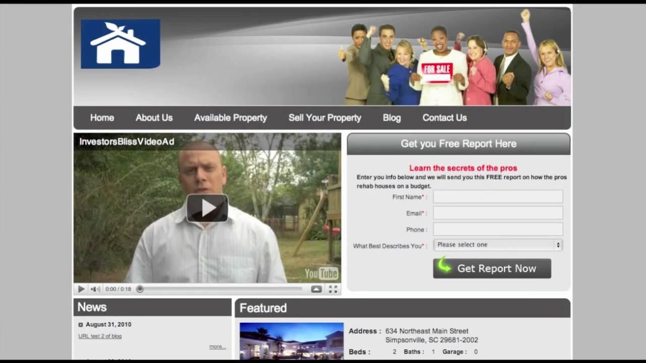 Quick Tour Of Real Estate Investor Website Templates YouTube - Real estate investor website templates