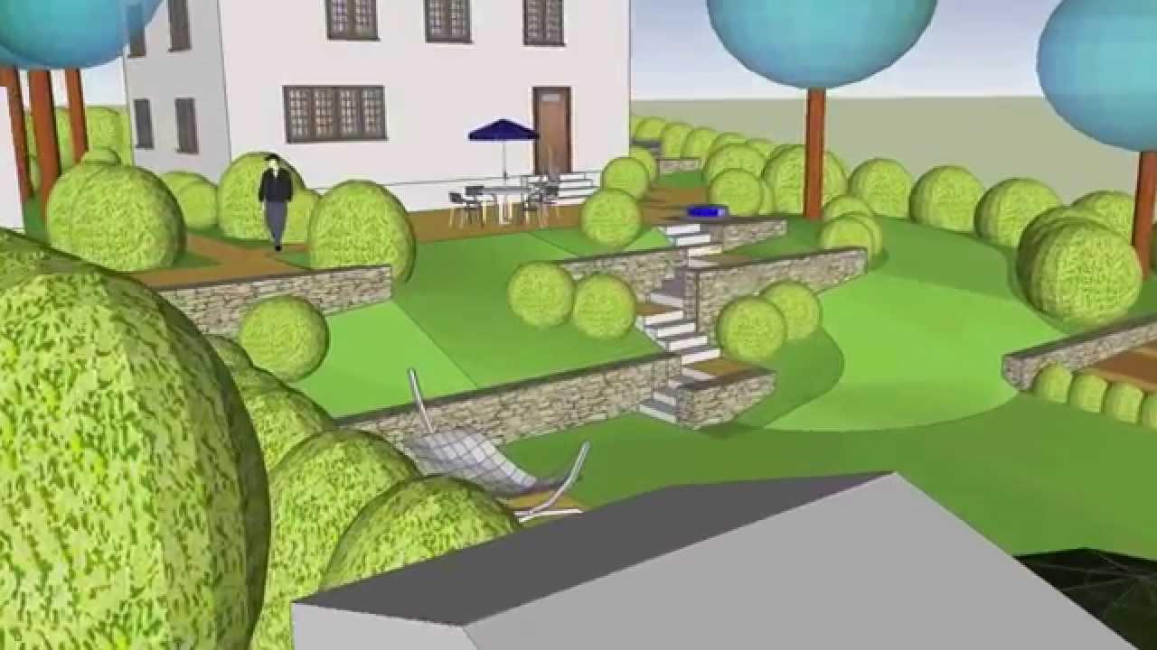 Terrasse Hanglage Modern