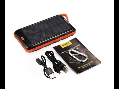 easyacc 15000mah solar ladeger t power bank dual usb. Black Bedroom Furniture Sets. Home Design Ideas