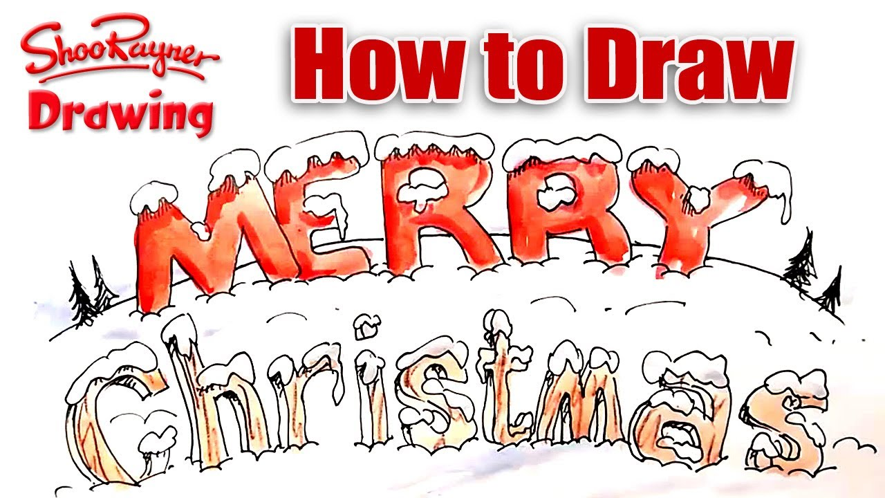 How to draw snow covered lettering youtube how to draw snow covered lettering madrichimfo Images
