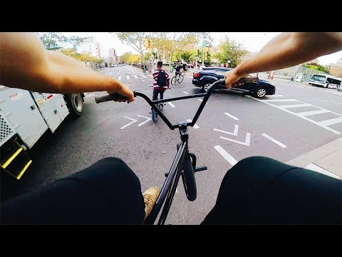 TAKING OVER THE STREETS ON BIKES (BMX IN THE HOOD)