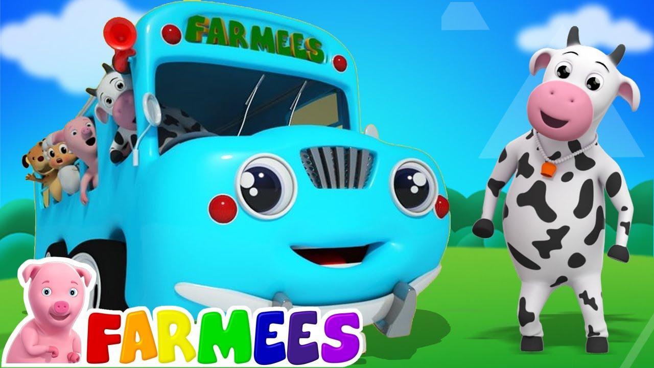 Ruedas en el bus | Canciones infantiles | Dibujos animados | Farmees Español | Educación