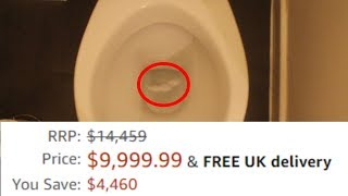 FLUSHING $10,000 FIDGET SPINNER DOWN THE TOILET