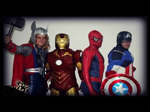 Spiderman vs Avengers Thor Hammer & The Riddler in Real Life! Fun Superhero Movie!