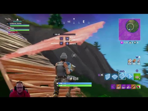 Fortnite gameplay with Shooting Test Mode.