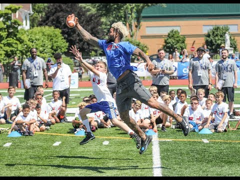 WATCH: Odell Beckham's campers pull out stops to mimic Giants star's move, style