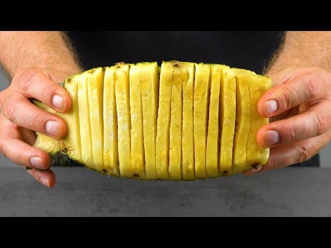 Cut The Pineapple Like THIS & Tie It To A Piece Of Salmon – Yummy!
