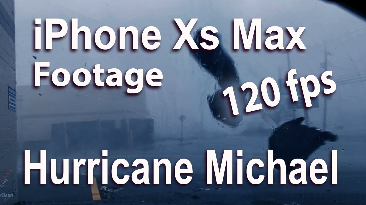 iphone-xs-max-120-fps-hurricane-michael-flying-debris-video