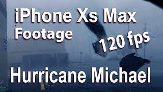 iPhone Xs Max 120 fps Hurricane Michael flying Debris Video