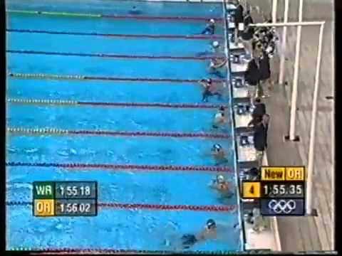 Sydney 2000 Olympic Games 200m Butterfly 15 Year Old Michael Phelps