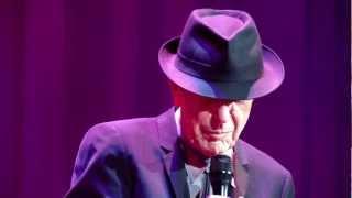 Leonard Cohen performs Anyhow -  Air Canada Centre, Toronto, Canada. 5th Dec. 2012.MOV