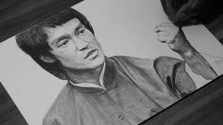 Bruce Lee Pen Drawing - DeMoose Art