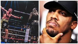 THE REASON WHY ANTHONY JOSHUA DID NOT REACT TO THE DEONTAY WILDER VS TYSON FURY SHOWDOWN OUTCOME.