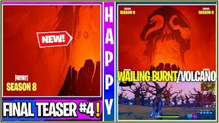 *NEW* Fortnite: *FINAL* Season 8 Teaser! Banana Skin, Monsters, Wailing Volcano & Leaked Burnt POI!