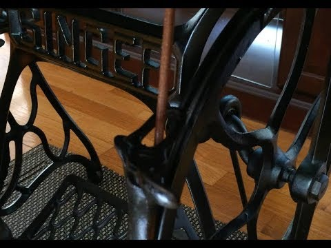 ANTIQUE  WILLCOX /& GIBBS TREADLE BASE WHEEL GUARD