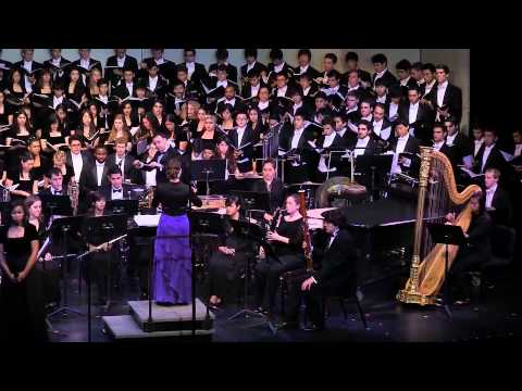"""Silent Night,"" UCLA combined choirs; Rebecca Lord, conductor; India Carney, soloist"