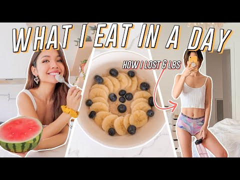 What I Eat In A Day As a Vegetarian! (how I lost 6lbs)