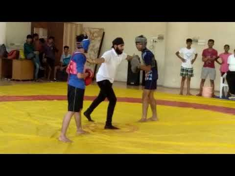 Gujarat district match freestyle  boxing win match KARAN  PANWAR