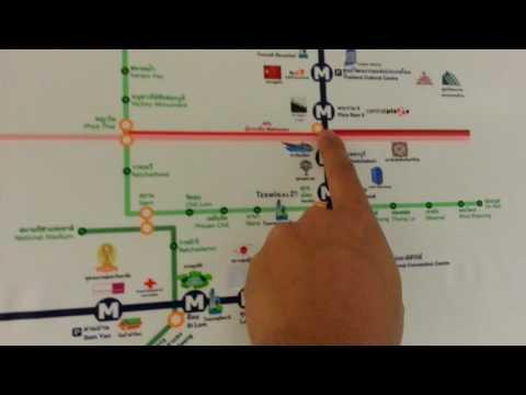 รีวิวแผนที่เส้นทางรถไฟฟ้าใต้ดินMRTสายสีน้ำเงินผ่านสถานที่ต่างๆ