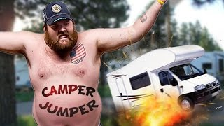 TRAILER TRASH - Camper Jumper Simulator Gameplay