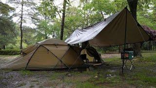 2泊3日の夫婦キャンプ ① 大雨の幕内キャンプ IN広島 Camping with my wife for 2 nights and 3 days