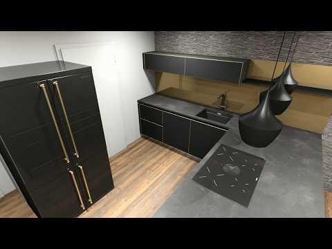 wohnküche-in-schwarz-und-gold