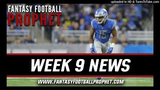 Week 9 News & Notes - Demaryius Thomas and Golden Tate Traded